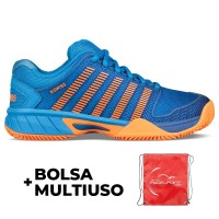 Kswiss Hypercourt Expresss Hb Blue Junior Orange Sneakers