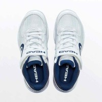 Head Sprint Velcro 3.0 White Navy Junior Shoes