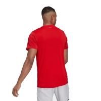 T-shirt Adidas Club 3 Stripes Red