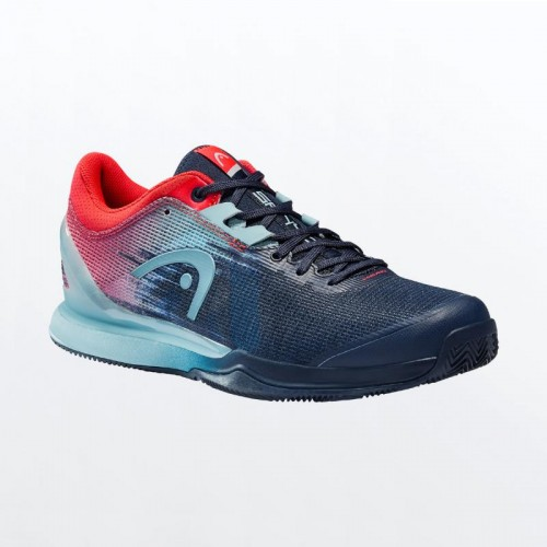 Shoes Head Sanyo Sprint Pro 3.0 Clay Blue Neon Red